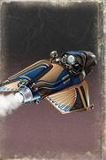 Pulp Sci Fi Retro Rockets